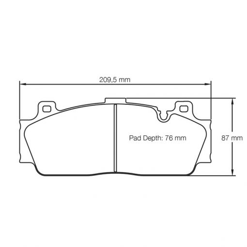 Pagid RSC1 Brake pads front BMW M4 with Ceramic brakes